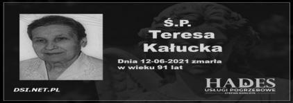 Ś.P. Teresa Kałucka