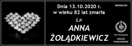 Ś.P. Anna Żołądkiewicz