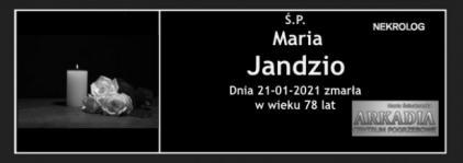 Ś.P. Maria Jandzio