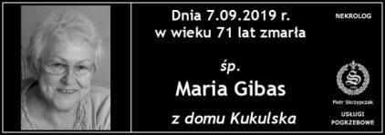 Ś.P. Maria Gibas