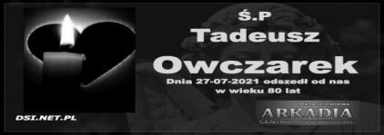 Ś.P. Tadeusz Owczarek
