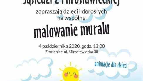 2020-10-04 Sąsiedzi z Mirosławieckiej pomalują mural