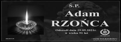 Ś.P. Adam Rzońca