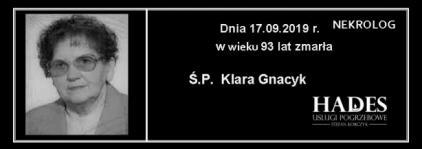 Ś.P. Klara Gnacyk