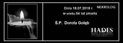 Ś.P. Dorota Gołąb