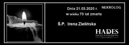 Ś.P. Irena Zielińska