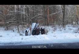 Wypadek na trasie Drawsko – Kalisz Pom. Pomogli inni uczestnicy ruchu