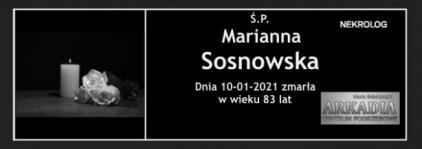 Ś.P. Marianna Sosnowska