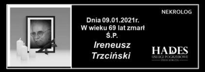 Ś.P. IRENEUSZ TRZCIŃSKI