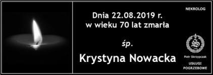 Ś.P. Krystyna Nowacka