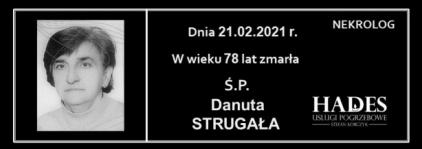 Ś.P. Danuta Strugała