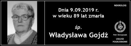 Ś.P. Władysława Gojdź