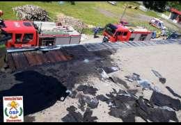 Pożar na Drawskiej. Prowadzono tam prace remontowe