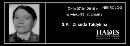 Ś.P. Zinaida Tałdykina