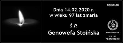 Ś.P. Genowega Stoińska