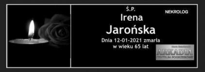 Ś.P. Irena Jarońska