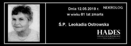 Ś.P. Leokadia Ostrowska