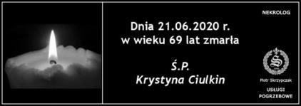 Ś.P. Krystyna Ciulkin