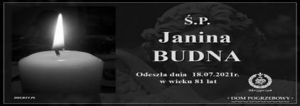 Ś.P. Janina Budna