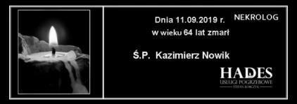 Ś.P. Kazimierz Nowik