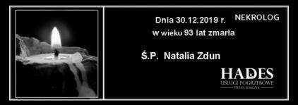 Ś.P. Natalia Zdun