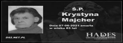 Ś.P. Krystyna Majcher