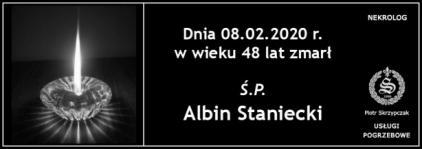 Ś.P. Albin Staniecki