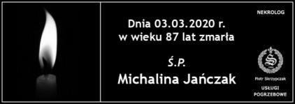 Ś.P. Michalina Jańczak