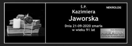 Ś.P. Kazimiera Jaworska