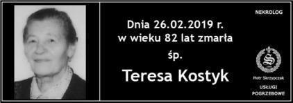 Ś.P. Teresa Kostyk