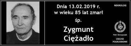 Ś.P. Zygmunt Ciężadło