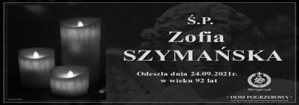 Ś.P. Zofia Szymańska