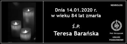 Ś.P. Teresa Barańska