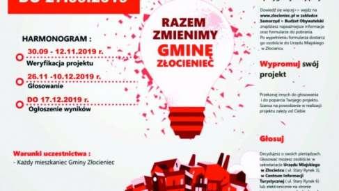 Złocieniec rusza z budżetem obywatelskim na 2020. W puli jest 140 tys. zł.