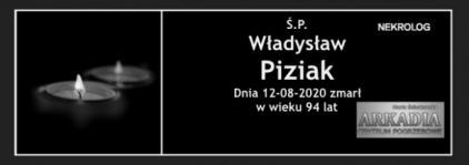 Ś.P. Władysław Piziak