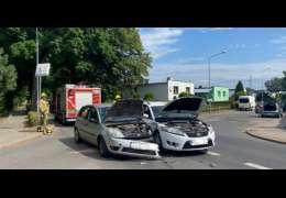 Zderzenie aut na skrzyżowaniu Cieszyńskiej i Połczyńskiej