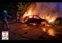W nocy spłonął samochód