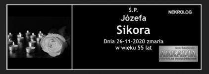 Ś.P. Józefa Sikora