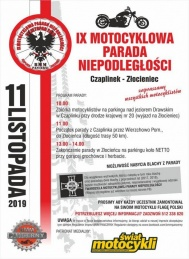 2019-11-11 IX Motocyklowa Parada Niepodległości