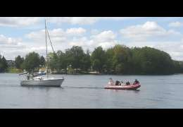 Akcja ratunkowa na jeziorze Drawsko