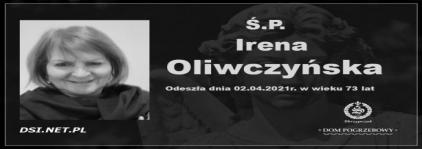 Ś.P. Irena Oliwczyńska
