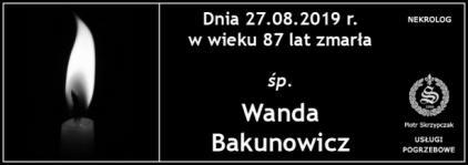 Ś.P. Wanda Bakunowicz