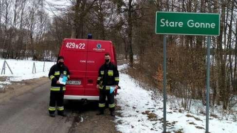 Strażacy ochotnicy zadbali o to, aby do mieszkańców małych miejscowości trafiły informacje o szczepieniach
